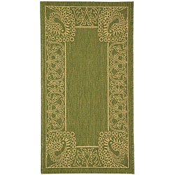 Indoor/ Outdoor Abaco Olive/ Natural Rug (2' x 3'7)