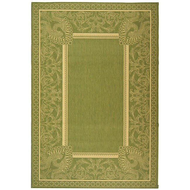 Safavieh Indoor/ Outdoor Abaco Olive/ Natural Rug (5'3 x 7'7)