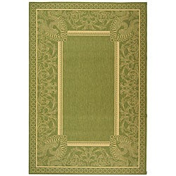 Indoor/ Outdoor Abaco Olive/ Natural Rug (5'3 x 7'7)