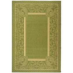 Indoor/ Outdoor Abaco Olive/ Natural Rug (7'10 x 11')