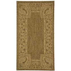 Safavieh Indoor/ Outdoor Abaco Brown/ Natural Rug (2' x 3'7)