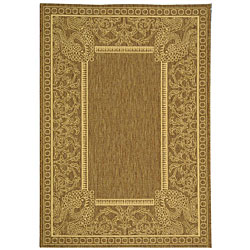 Indoor/ Outdoor Abaco Brown/ Natural Rug (4' x 5'7)