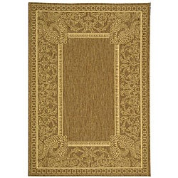 Safavieh Indoor/ Outdoor Abaco Brown/ Natural Rug (4' x 5'7)