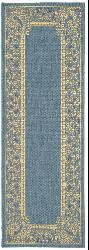 Safavieh Indoor/ Outdoor Abaco Blue/ Natural Runner (2'4 x 6'7)
