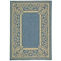 Indoor/ Outdoor Abaco Blue/ Natural Rug (2'7 x 5')