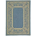 Indoor/ Outdoor Abaco Blue/ Natural Rug (4' x 5'7)