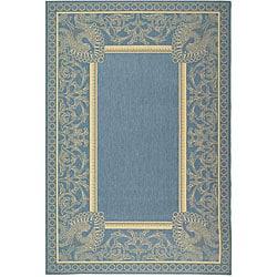 Safavieh Indoor/ Outdoor Abaco Blue/ Natural Rug (5'3 x 7'7)