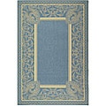 Indoor/ Outdoor Abaco Blue/ Natural Rug (6'7 x 9'6)