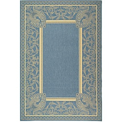 Safavieh Indoor/ Outdoor Abaco Blue/ Natural Rug (7'10 x 11')