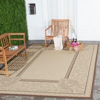 Safavieh Indoor/ Outdoor Abaco Natural/ Chocolate Rug (5'3 x 7'7)