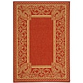 Indoor/ Outdoor Abaco Red/ Natural Rug (2'7 x 5')