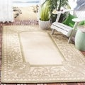 Safavieh Indoor/ Outdoor Abaco Red/ Natural Rug (4' x 5'7)
