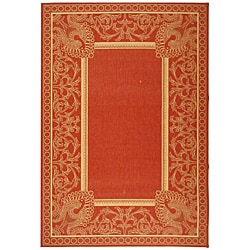 Safavieh Indoor/ Outdoor Abaco Red/ Natural Rug (5'3 x 7'7)