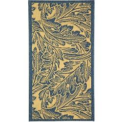 Safavieh Indoor/ Outdoor Acklins Natural/ Blue Rug (2' x 3'7)