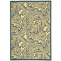 Indoor/ Outdoor Acklins Natural/ Blue Rug (2'7 x 5')
