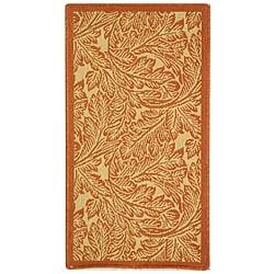 Safavieh Indoor/ Outdoor Acklins Natural/ Terracotta Rug (2' x 3'7)