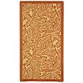 Indoor/ Outdoor Acklins Natural/ Terracotta Rug (2' x 3'7)