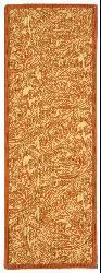 Safavieh Indoor/ Outdoor Acklins Natural/ Terracotta Runner (2'4 x 6'7)