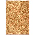 Indoor/ Outdoor Acklins Natural/ Terracotta Rug (7'10 x 11')