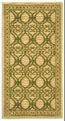 Safavieh Indoor/ Outdoor Tropics Natural/ Olive Rug (2'7 x 5')