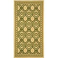 Indoor/ Outdoor Tropics Natural/ Olive Rug (2'7 x 5')