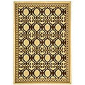 Indoor/ Outdoor Tropics Natural/ Brown Rug (2'7 x 5')