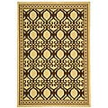 Indoor/ Outdoor Tropics Natural/ Brown Rug (4' x 5'7)