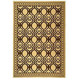 Safavieh Indoor/ Outdoor Tropics Natural/ Brown Rug (6'7 x 9'6)