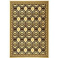 Indoor/ Outdoor Tropics Natural/ Brown Rug (6'7 x 9'6)