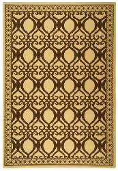 Safavieh Indoor/ Outdoor Tropics Natural/ Brown Rug (7'10 x 11')