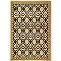 Indoor/ Outdoor Tropics Natural/ Brown Rug (7'10 x 11')