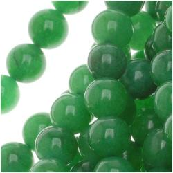 Beadaholique Green Candy Jade Round Bead 15.5-inch Strands (Pack of 2)