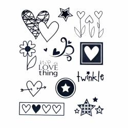 Autumn Leaves 12-piece 'Love Thing' Stampology Clear Stamps Set