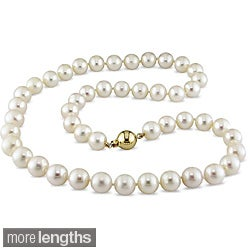 Miadora White 8.5-9.5mm Freshwater Pearl Strand Necklace (18-24 inch)