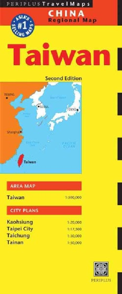 Periplus Travel Maps Taiwan: China Regional Map (Sheet map, folded)