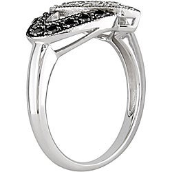 Miadora 10k Gold 1/4ct TDW Black and White Diamond Ring (I-J, I1-I2)