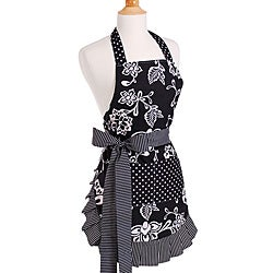 Women's Sassy Black Original Flirty Apron