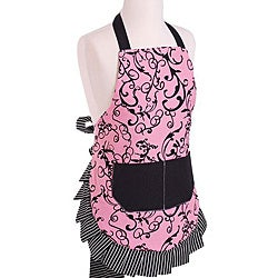 Chic Pink Girl's Original Flirty Apron
