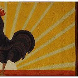 Safavieh Hand-hooked Vintage Poster Wool Runner (2'6 x 4')