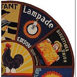 Safavieh Hand-hooked Vintage Poster Wool Rug (5'6 Round)