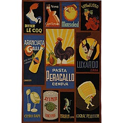 Safavieh Hand-hooked Vintage Poster Wool Rug (6' x 9')
