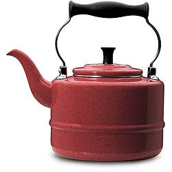 Paula Deen Signature Red Enamel 2-quart Tea Kettle