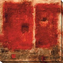 Bellows 'Quality Control Red IV' Gallery-wrapped Art