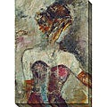 Bellows 'Girl with Pearl Necklace' Oversized Canvas Art