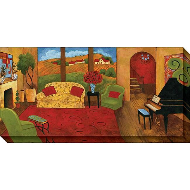 Cecile Broz 'Lavish Surroundings I' Oversized Canvas Art