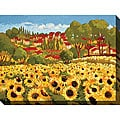 Cecile Broz 'Sunflower Field I' Giclee Canvas Art