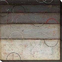 DeRosier 'Silver Spectrum II' Oversized Canvas Art