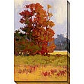 Kim Coulter 'Red Trees II' Giclee Canvas Art