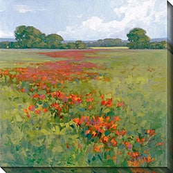 Kim Coulter 'Red Poppies II' Giclee Canvas Art