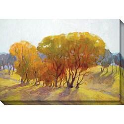 Kim Coulter 'Autumn Day II' Oversized Canvas Art